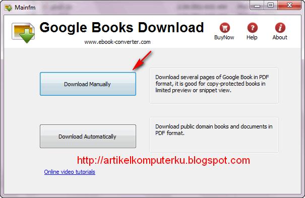Cara Download Ebook Di Google Buku Menggunakan Google Book Downloader Portable Barakumbara